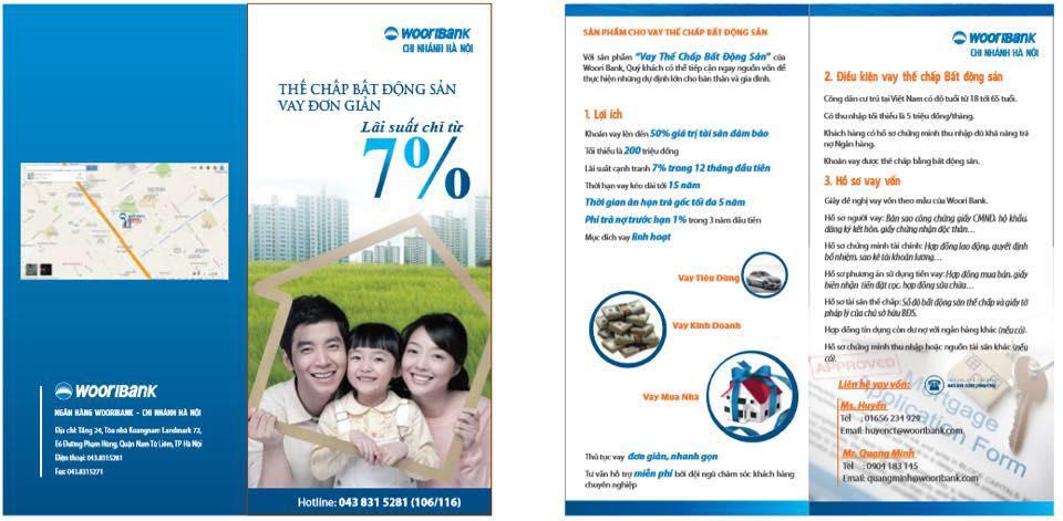 Vay mua nhà lãi suất 7% tại Wooribank chi nhánh Hà Nội