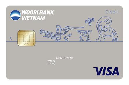 thẻ visa wooribank