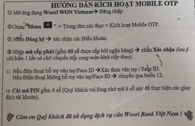 Kich hoat Mobile OTP