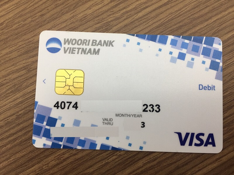 The Wooribank Visa debit